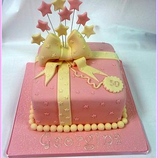 Ladies Present Pink & Cream Birthday Cake