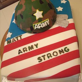 Army send off cake
