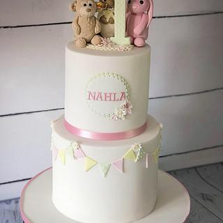 Favourite things first birthday cake