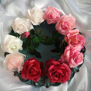 Roses  pink - Cake by Zuzana Bezakova