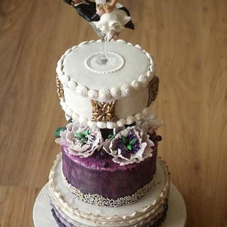 Purple Elegance - Cake by Slice of Heaven By Geethu