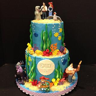 Little Mermaid Under the Sea Cake