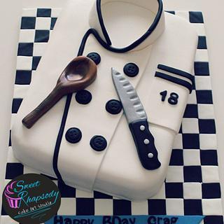 Chef coat cake - Cake by Sweet Rhapsody Cake Art Studio
