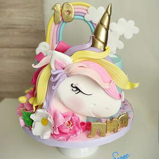 Cute unicorn - Cake by Tanya Shengarova