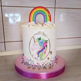 Rainbow unicorn cake - Cake by Tortalie