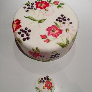 Hand painted cake