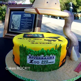 Gravity-Defying Zoo Cake