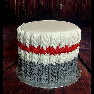 Wool socks cake