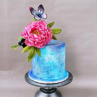 Peony cake - Cake by Mischell