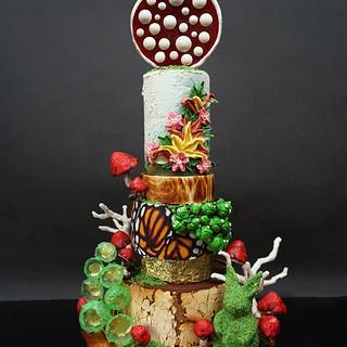 Barney Tier Cake