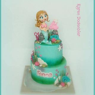 Mermaid cake - Cake by Karen Dodenbier