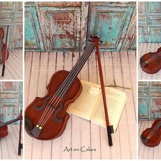 Realistic Violin Cake...