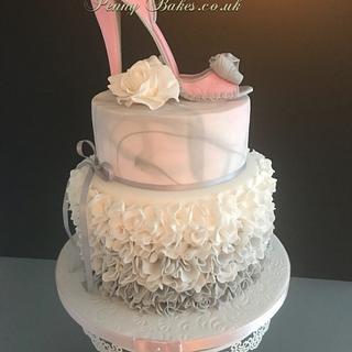 Fantasy shoe cake - Cake by Penny Sue
