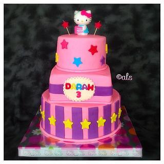 Hello Kitty  - Cake by ALotofSugar