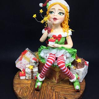 A little pixie of X'mas - Cake by Claire DS CREATIONS