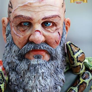 Ragnar Lothbrok for Vikings the cake collaboration