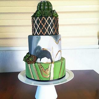 Pastel de Boda Succulent