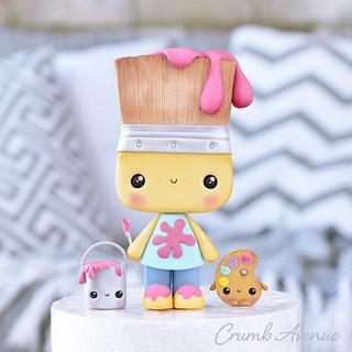 Paintbrush Cake Topper ;)