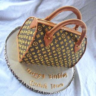 Louis Vuitton Purse Cake - Cake by DeliciousDeliveries