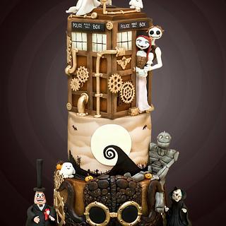 Steampunk Mash-up Cake