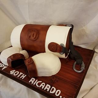 Punch bag cake