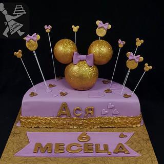 Half cake with Miney Mause