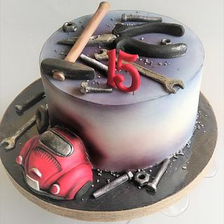 Motor vehicle repair cake