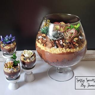 Succulent Layered Cake