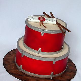 Drums cake..
