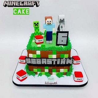 Torta de Minecraft en Medellín por Dulcepastel.com - Cake by Dulcepastel.com