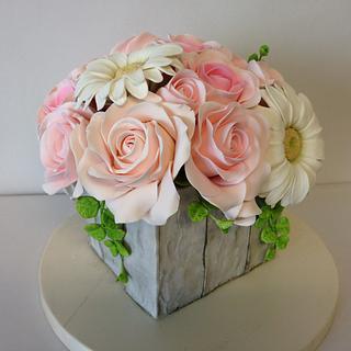 Pastel sugar flowers, Flores de azucar