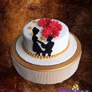 Engagement cake  - Cake by Ankita Singhal