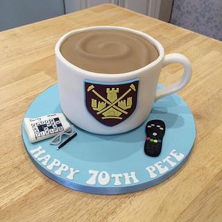 West Ham Mug of Tea Cake