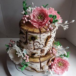 Stump Wedding Cake - Cake by Jelena Brkljac