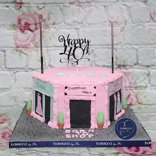Mall theme cake