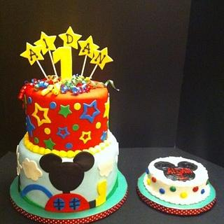 Mickey Mouse Club House cake - Cake by Woodcakes