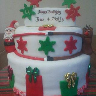 Santa and Rudolph - Cake by CC's Creative Cakes and more...