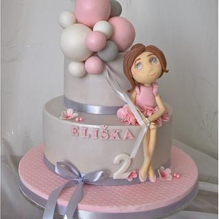 Sweet balerina & ballons - Cake by Tortolandia