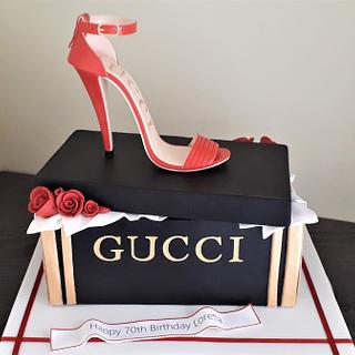 Gucci inspired shoe cake