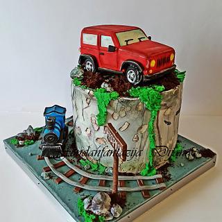 Off road - Cake by Fondantfantasy