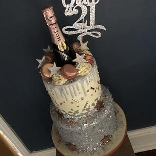 21st Moët birthday cake