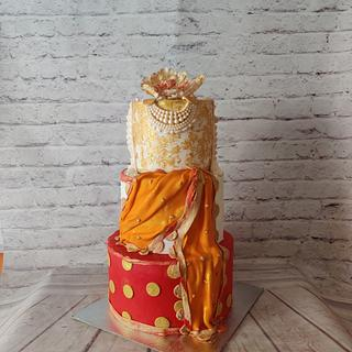 Jewelled Sari Cake  - Cake by Dr RB.Sudha