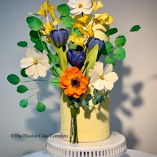 Flowers with prop options  - Cake by The Elusive Cake Company