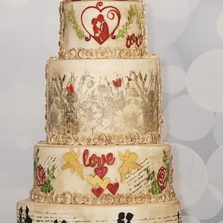 Love story  - Cake by SAIMA HEBEL