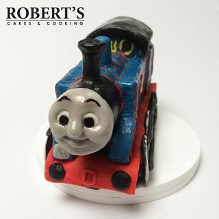 Thomas the Tank Engine cake topper. - Cake by Robert Harwood