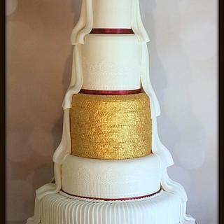Wedding Vow Renewal Cake