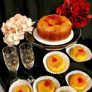 Mini pineapple upside down pound cake and jumbo cupcakes
