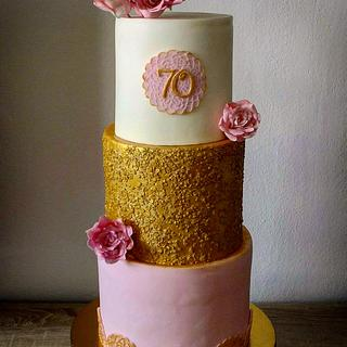 70th birthday cake for a lady - Cake by Janeta Kullová