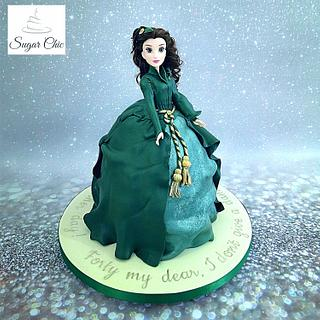 Scarlett O'Hara Cake - Cake by Sugar Chic