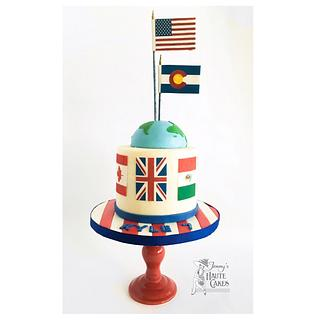Flags of the World cake